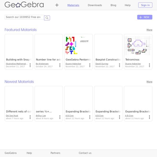 Ressources pour GeoGebra