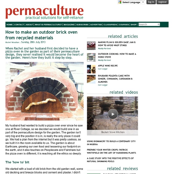 DIY Outdoor Brick Oven From Recycled Materials