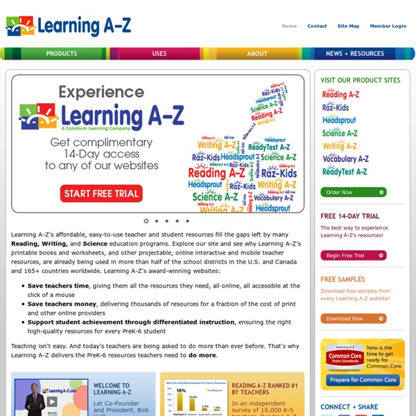 Teaching Materials: Printable Worksheets, Leveled Books, Lesson Plans & More Classroom Resources