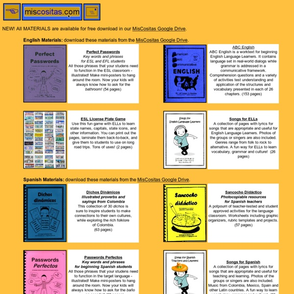 Materials and resources for language teachers