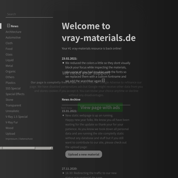 Vray-materials.de - Your ultimate V-Ray material resource