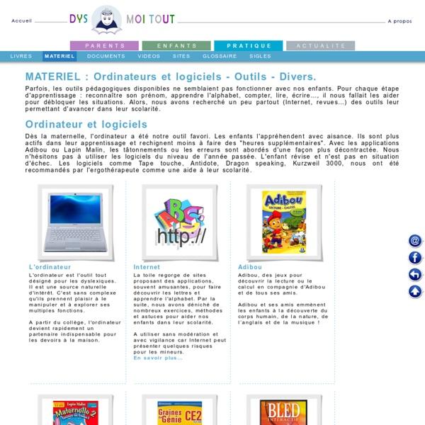 Matériel utile pour les enfants dyslexiques