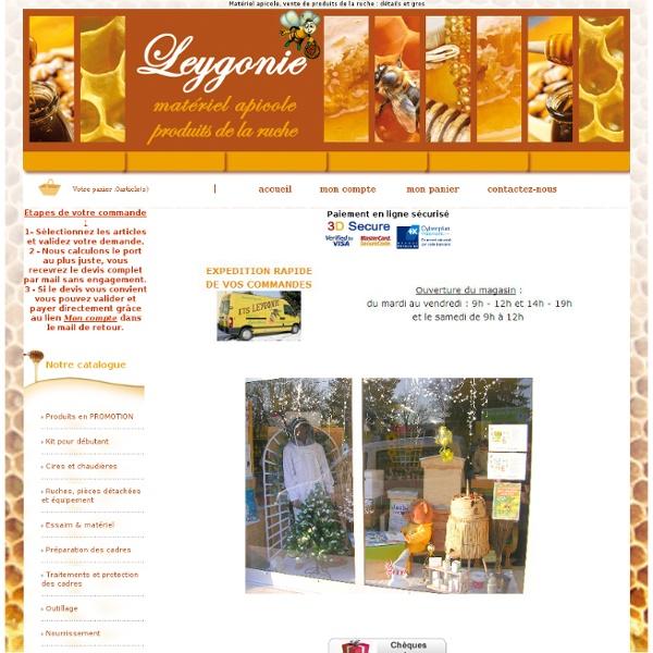 Ets LEYGONIE - Vente de produits et de matériel apicoles