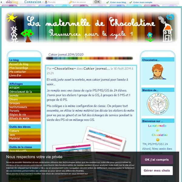 La maternelle de Chocolatine - Ressources pour le cycle 1