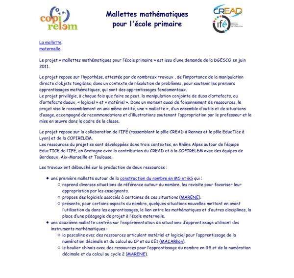 Mallette maternelle : introduction
