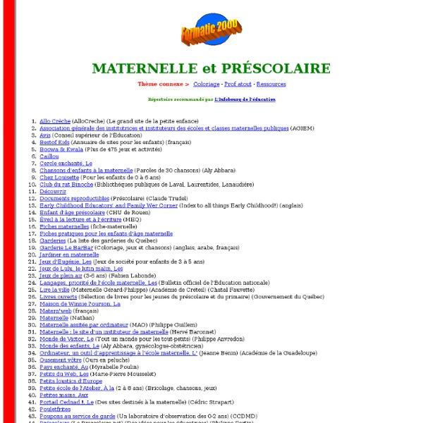 Maternelle et préscolaire