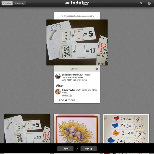 Math cards and other ideas