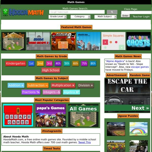 over 500 games to play on hooda math