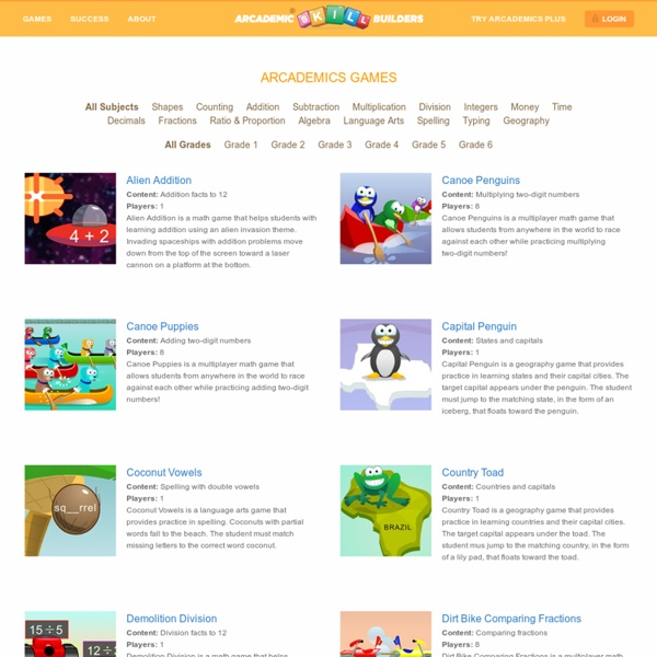 Math Games, Language Arts Games, and much more