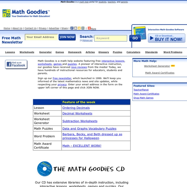 Math Goodies