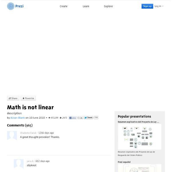 Math is not linear by Alison Blank on Prezi