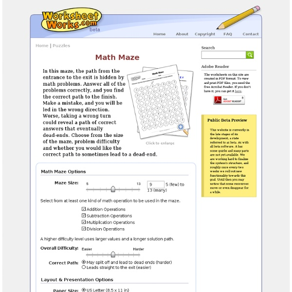 worksheet works math maze math maze pearltreesmulti operation worksheetworks puzzle worksheet. Black Bedroom Furniture Sets. Home Design Ideas