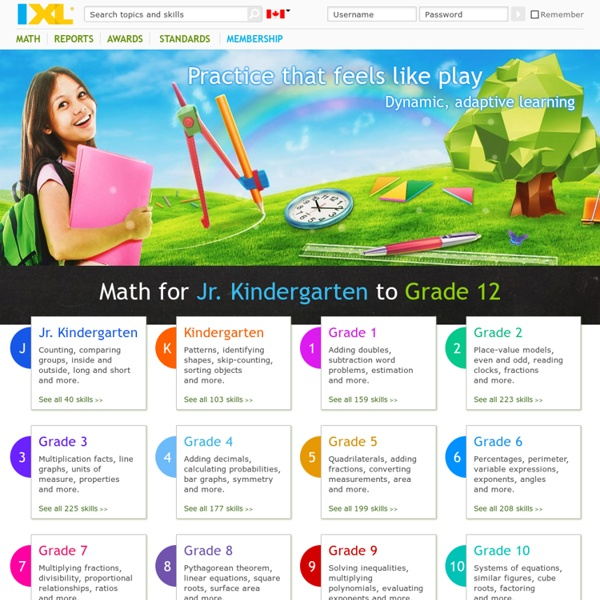 Online math practice and lessons