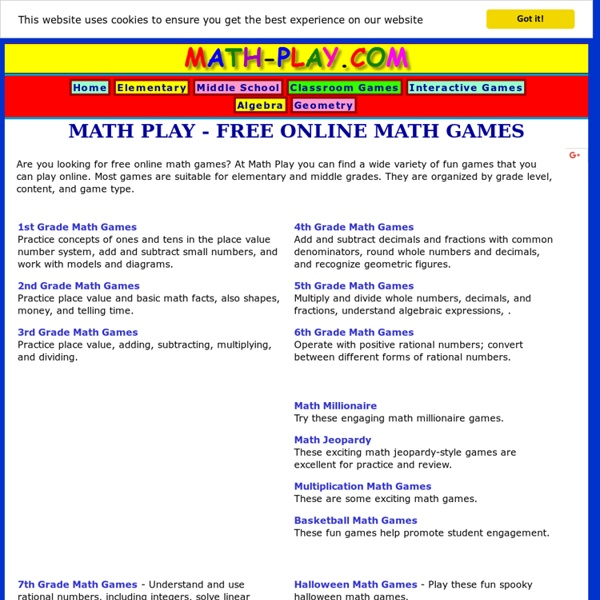 Math Play - Free Online Math Games