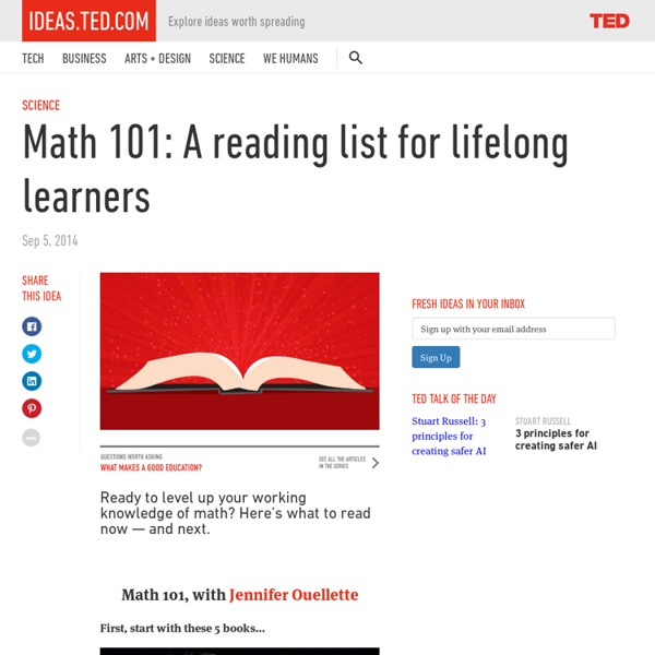 Math 101: A reading list for lifelong learners