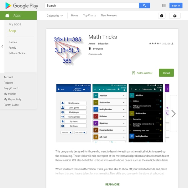 Math Tricks - Android Apps on Google Play