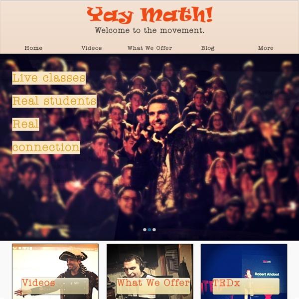 YAY MATH! Algebra Geometry Math Videos Online
