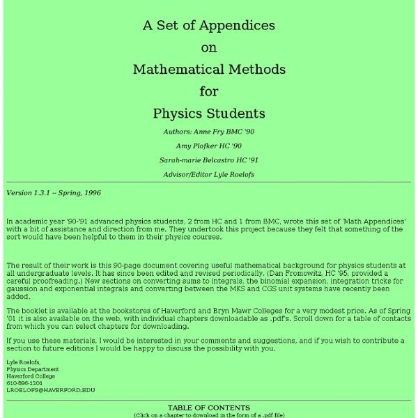 MathAppendices