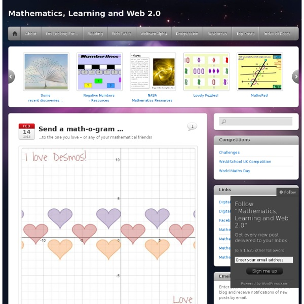 Mathematics, Learning and Web 2.0