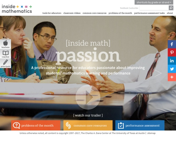 Inside mathematics - a professional resource for educators /