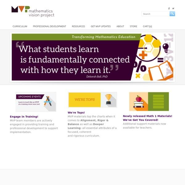 MVP - Mathematics Vision Project (MVP)