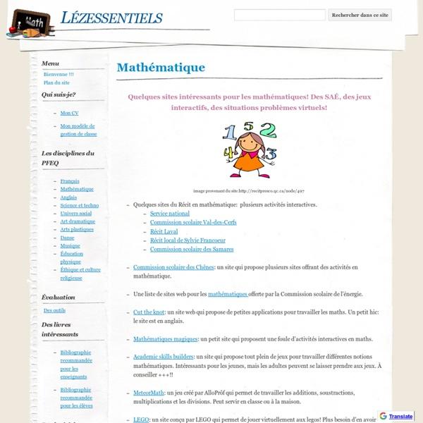 Mathématique - Lézessentiels