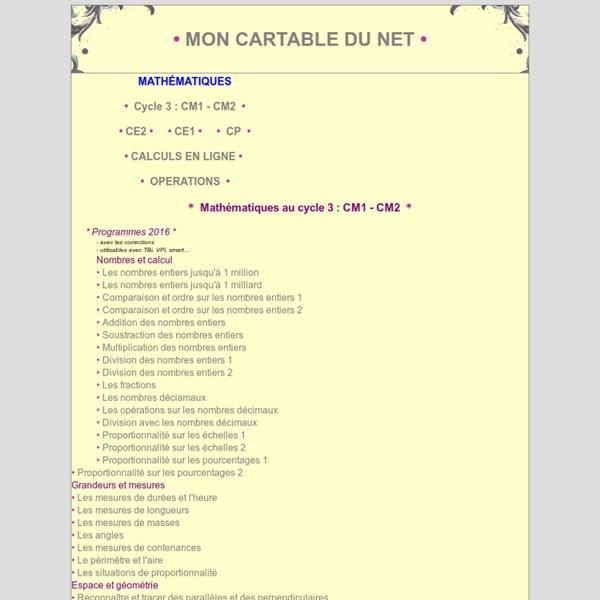Mathématiques aux CP CE2 CM1
