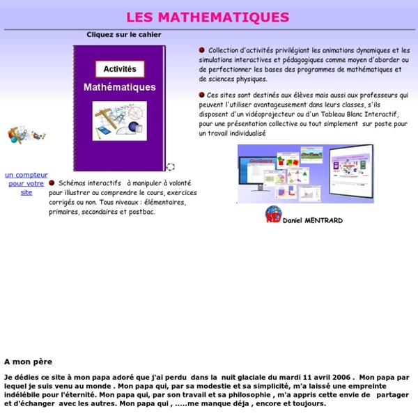 Les mathématiques avec Geogebra (Daniel Mentrard)