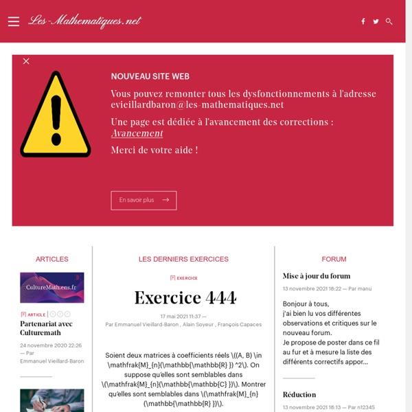 Les-Mathematiques.net - Cours de mathématiques supérieures
