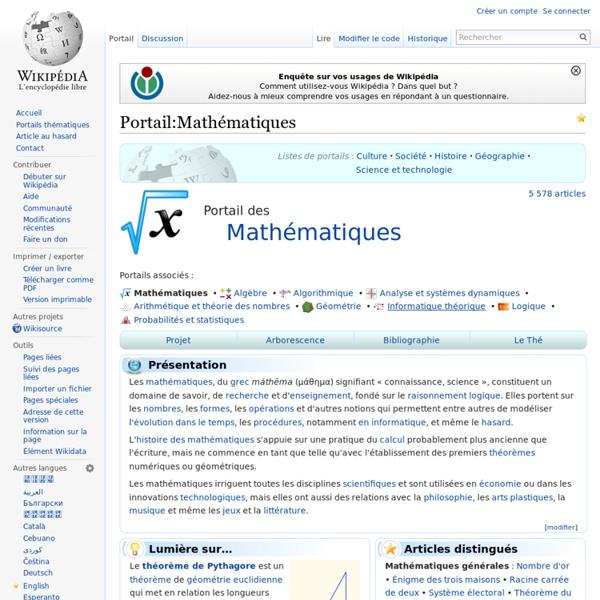 Portail:Mathématiques