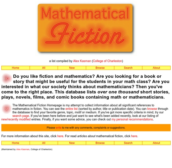 MathFiction Homepage