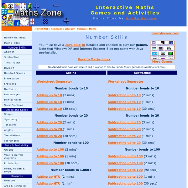 Maths Games and Interactive activities