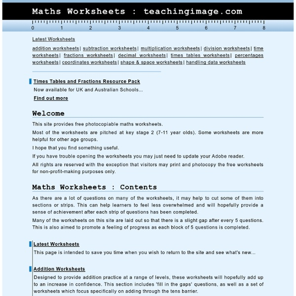 Maths Worksheets | Pearltrees