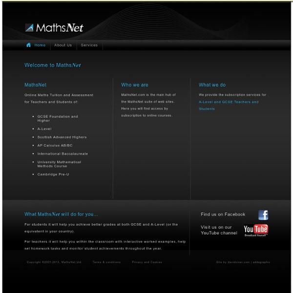 MathsNet Ltd: Welcome to MathsNet