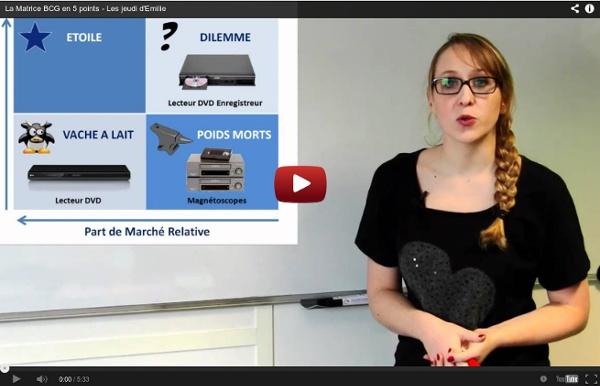 Vidéo : La Matrice BCG en 5 points - Les jeudi d'Emilie
