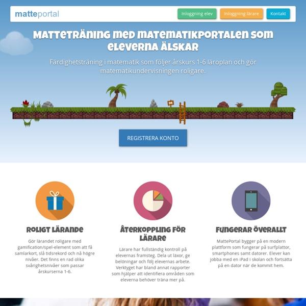 MattePortal - Matematikträning online