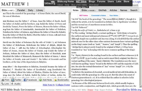 NET Bible free online