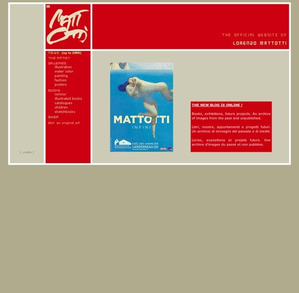 Mattotti.com = the official website of Lorenzo Mattotti