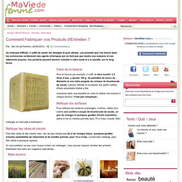 Comment fabriquer vos produits d 39 entretien pearltrees - Fabriquer ses produits d entretien ecologiques ...