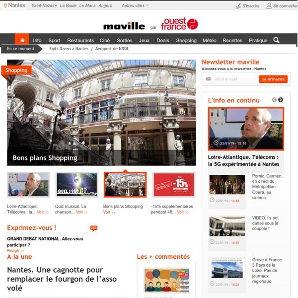 Nantes.maville.com - Info actualité sport sorties cinéma bars restaurants annonces météo jeux