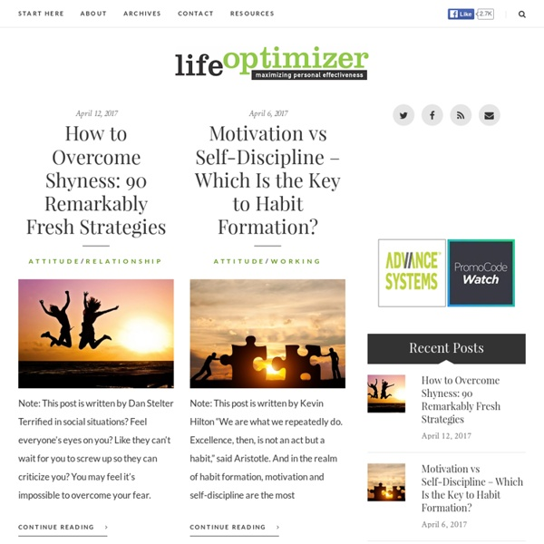 Life Optimizer - Maximizing Personal Effectiveness