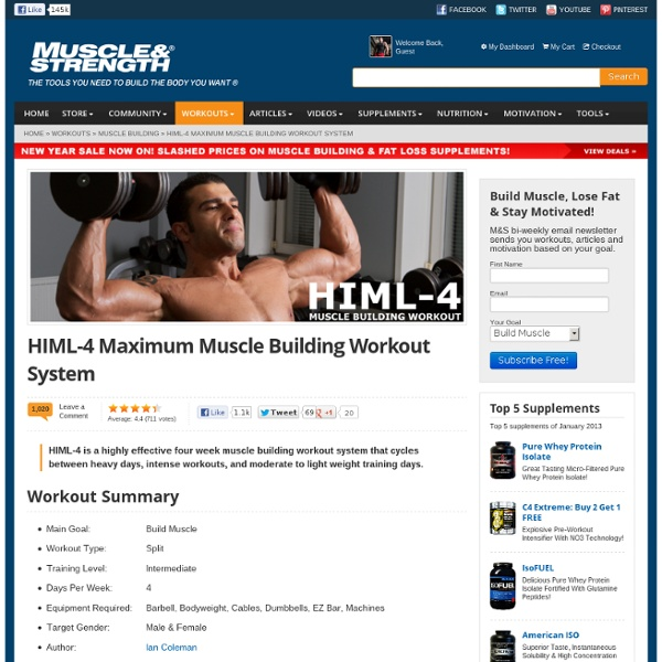 HIML-4 Maximum Muscle Building Workout System