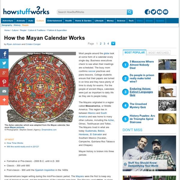"How the Mayan Calendar Works"""