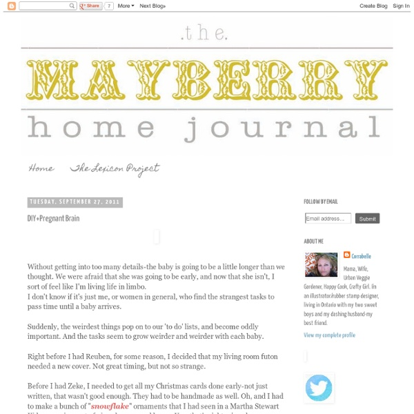 The Mayberry Home Journal: DIY+Pregnant Brain