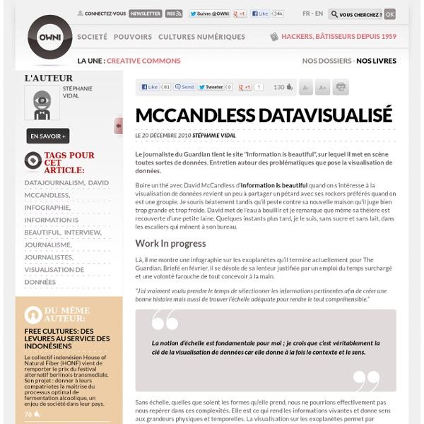 Visualisation de données : rencontre avec David McCandless » Article » OWNI, Digital Journalism