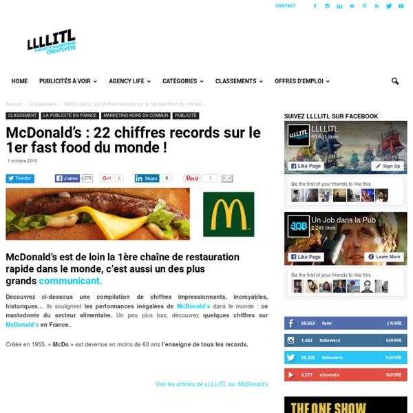 McDonald's : 22 chiffres records sur le 1er fast food du monde
