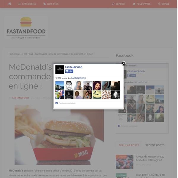 McDonald's lance la commande et le paiement en ligne !