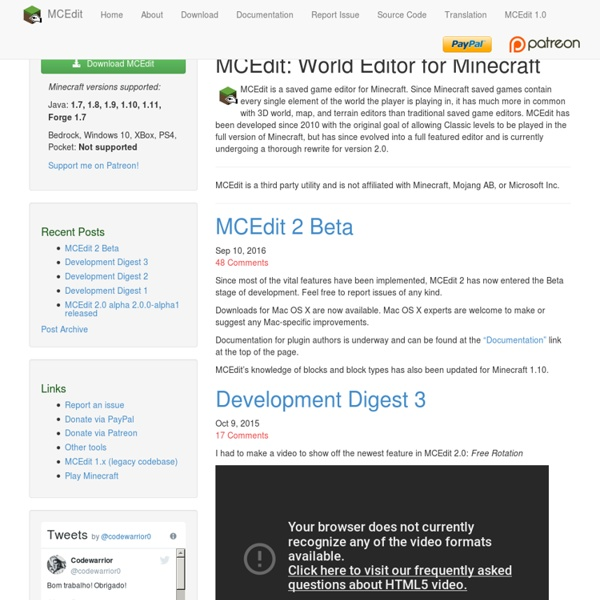 MCEdit, a Minecraft World Editor