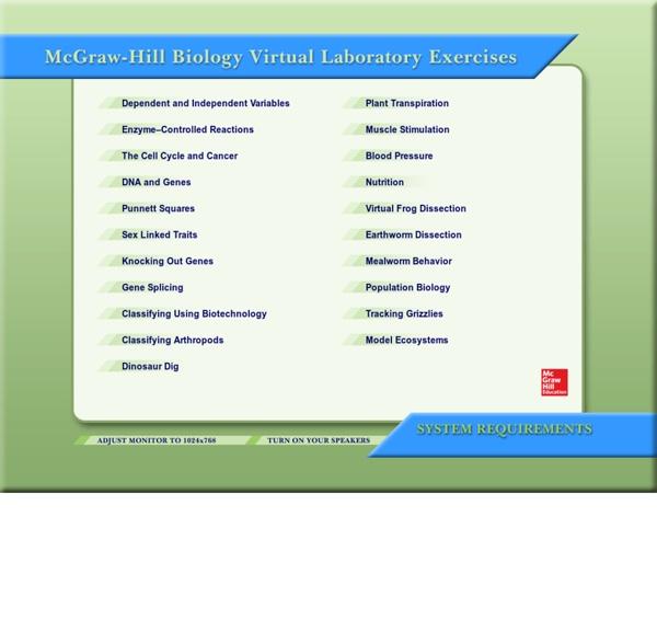 McGraw-Hill Virtual Biology Lab