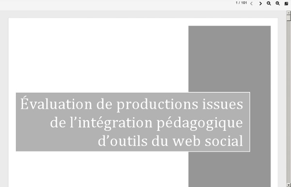 Evaluation des productions issues du web social